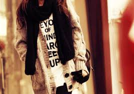 Sweater Oversized Cardigan Chunky Cable Knit Scarf Jumper T Shirt Coat White Cream Winter Outfits