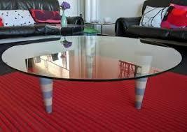 details zu cor glastisch rund couchtisch wohnzimmer