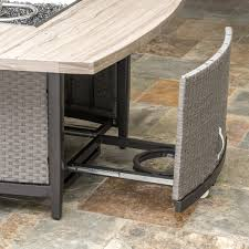 Portofino Patio Furniture Replacement Cushions by Vistano 48in Stone Top Fire Table Rst Brands