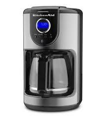 KitchenAidR 12 Cup Glass Carafe Coffee Maker Refurbished Onyx Black RKCM111OB