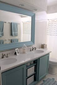 exquisite large framed bathroom vanity mirrors mounted on white