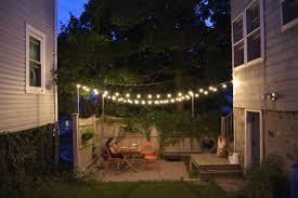 Radiant Outdoor Patio Lights Ideas Backyard Lighting Part Also