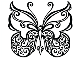 Butterflies Coloring Pages Adult Book Monarch