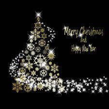 Bright Stars Christmas Tree Vector Free