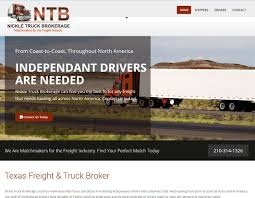Trucking Industry Website Designed For Nickle Truck Brokerage. The ... Abels Towing 31 Se Loop 410 San Antonio Tx 78222 Ypcom Southwestern Motor Transport Inc Schwerman Trucking Reflects On 100 Years Of Tank Truck Carriage Services Ltl And Cstruction Loaded With Opportunity For Tech Startup Company Drivers Atlas Llc Coastal Co Home Christenson Transportation Where The Truckers Truck Bruckners Bruckner Sales United Foreign Auto Parts Cdl Traing Is A Driving School Experience Jarco Heavy Flatbed Hauling
