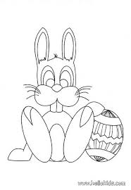 Bunny Ears And Chocolate Coloring Page