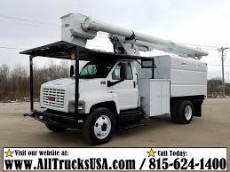 100 Forestry Bucket Trucks 2008 GMC C7500 TOPKICK 81L GAS 60 ALTEC BOOM FORESTRY BUCKET TRUCK