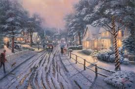 Thomas Kinkade Christmas Tree Train by Christmas