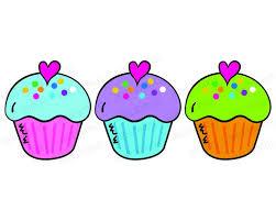 Cupcake Clip Art Digital Birthday Cupcakes Graphics For Teacher