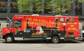 NEW YORK - JULY 9, 2015: Schnitzel Bar Food Truck In Midtown.. Stock ... Wiener Schnitzel The Flying Deutschman Schnitzi Introduces Us To The Expensive Midtown Lunch Mordis Truck Jersey City Home German Food Truck Fding Its Place In Hampton Roads Daily Press 140502sewhungry204818jpg 20481365 Est Vida Food Truck And Things Food Nyc New York I Just Want To Chicpeajc Milk Brined Pork Sandwich Pickled Mayo Slaw Sesame Seed Computerdriven Eats Ice Cream Stilettos A Berlin Schnitzeltruck Westbury Festival Delight Tastebuds October 7 Long