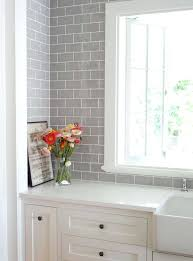 white kitchen grey subway tile backsplash gray subscribed