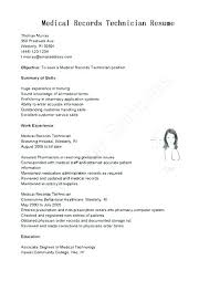 Sample Medical Records Clerk Cover Letter Brilliant Ideas Of File Resume No Experience Excellent