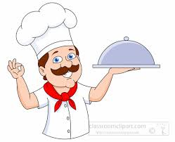 baker with a large layered cake clipart Size 118 Kb