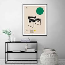 wohnkultur leinwand poster wassily stuhl marcel breuer