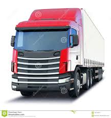100 Auto Truck Transport Freight Semitruck Isolated On White Background Stock Illustration