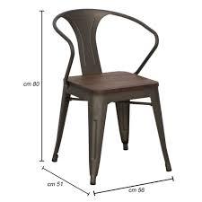 industrial style design küchenstuhl aus eisen und holz 2 stück fanni