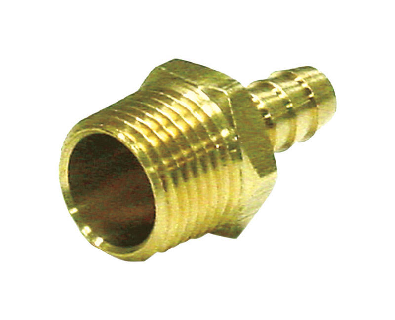 "JMF Hose Barb - Yellow Brass, 1"" x 3/4"""