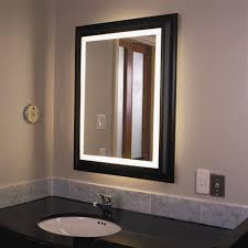 simple lighted bathroom wall mirror home design ideas