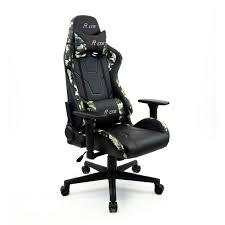 gamingstuhl mcracing schwarz tarnfarben mit 2 kissen bürostuhl drehstuhl stickerei büro