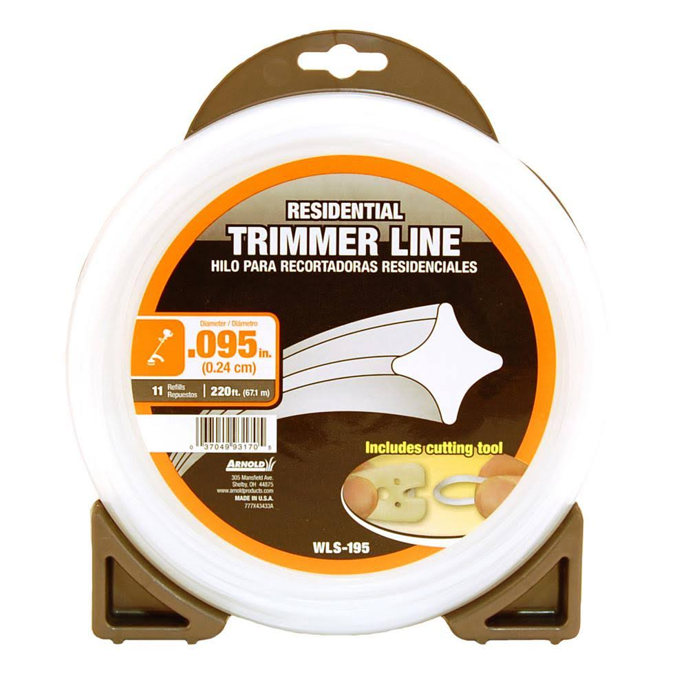 Arnold Residential Trimmer Line - 0.095'' x 220'