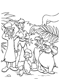 Peter Pan Flying Coloring Pages Free