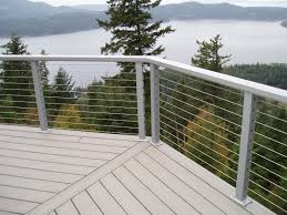 Stainless Steel Cable Railing | CrystaLite, Inc. Stainless Steel Cable Railing Systems Types Stairs And Decks With Wire Cable Railings Railing Is A Deco Steel Guardrail Deck Settings And Stalling Post Fascia Mount Terminal For Balconies Decorations Diy Indoor In Mill Valley California Keuka Stair Ideas Best 25 Ideas On Pinterest Stair Alinum Direct Square Stainless Posts Handrail 65 Best Stairways Images Staircase