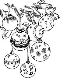 Christmas Tree Coloring Page Print by Pretty Balls With Many Designs To Decorate A Christmas Tree