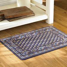 Padded Kitchen Floor Mats by Marseille Cushioned Kitchen Mats Navy Williams Sonoma