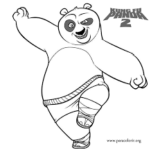 Beautiful Kung Fu Panda Coloring Pages 83 For Your Kids With