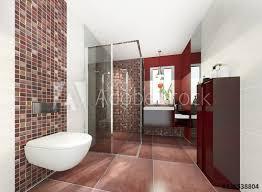klein modern bad badezimmer duschbad minibad stock photo