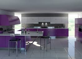 Full Size Of Kitchencool Amazing Purple Cream Kitchen Decor Idea With Black Ceramic Floor