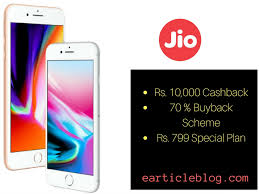 What is Jio Buyback fer iPhone 8 & 8 Plus at 70% Rs 8000