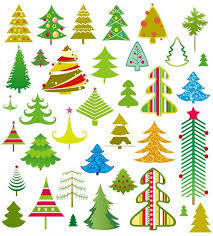 Kinds Of Christmas Trees by 32 Kinds Of Cartoon Christmas Tree U2013 Vector Material My Free