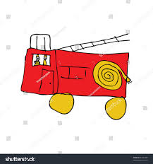 99 How To Draw A Fire Truck Step By Step Childs Ing Truck Stock Vector Royalty Free 47327890