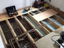 Sistering Floor Joists To Increase Span by Reinforcing Joists With Plywood Theplywood Com