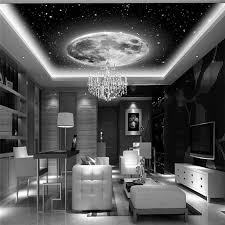 Space Galaxy Planets Photo Wallpaper Custom Art 3D Wall Mural Ceiling Bedroom Large