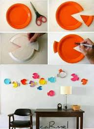 Paper Plate Fish Wall Hangings Art And Craft Ideas 05