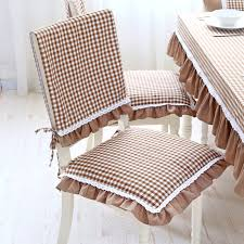 Get Quotations Pastoral Style Lace Falbala Seat Cushion Dining Chair Upholstery Coverings Coffee Lattice Grid Can Be