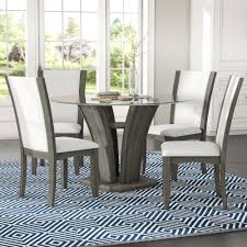 Brayden Studio Marnie 5-Piece Glass Top Dining Set & Reviews   Wayfair Standard Fniture Rossmore 7 Piece Rectangular Ding Set Dunk Maison Ranges Room Just Imagine The Beautiful Dinner Parties You Could Throw With This China White Nordic Event Party Table Tms Lucca 5 Multiple Colors Walmartcom 50 Outdoor Ideas You Should Try Out This Summer Tables And Chairs For Sale Wooden Buy Aspenhome New Year Christmas Style Chair Cover Decoration 2017 Bay Isle Home Solange Reviews Wayfair 5pcs Metal 4 Breakfast Black Dinner Mistana Thomasson