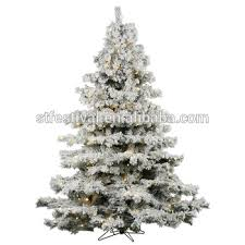 75 X 68quot Mountain King Artificial Flocked White Christmas Tree With 900 Warm