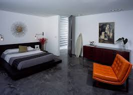 View In Gallery Vintage Masculine Bedroom With A Touch Of Mid Century Modern Appeal