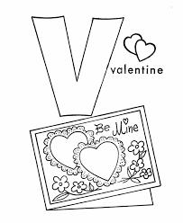 Letter V Coloring Pages