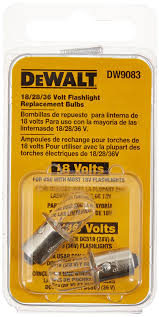 dewalt dw9083 18 volt flashlight replacement bulb 2 bulbs