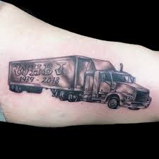 100 Semi Truck Tattoos Driver Memorial Tattoo Tattoo And Piercing 2019