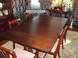 Mahogany Dining Room Sets Elegant Kitchen Retro Vintage Table And Chairs Igf Usa With Double Pedestal Set Made In