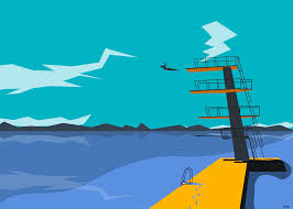 Diving Board Illustration
