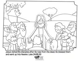 Jesus And His Disciples Free Easter Coloring Page Great For Kids