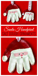 Santa Salt Dough Handprint Ornaments Use Our Easy Recipe To Make