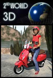 Vespa Scooter Helmet 3D Models 2nd World