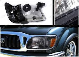 01 04 toyota tacoma smoke housing style reflector headlights